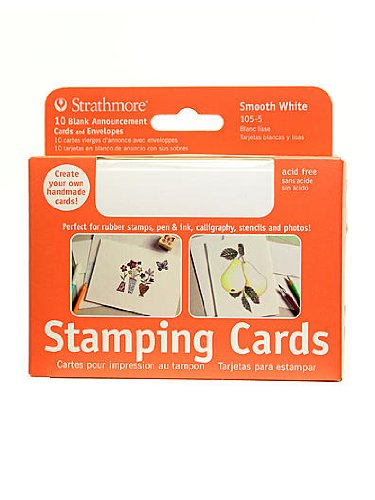 Strathmore Blank Announcements (Strathmore Announcement Card white smooth with no deckle)