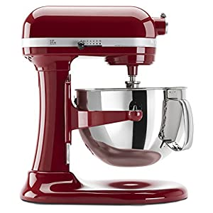 KitchenAid KP26M1XER 6 Qt. Professional 600 Series Bowl-Lift Stand Mixer - Empire Red 2