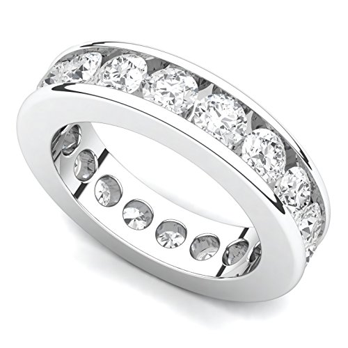 (Platinum Channel set Diamond Eternity Band Ring (G-H/VS, 3 ct.),)
