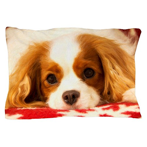 "CafePress Profile of A Cavalier King Charles Sea Pillow Case Standard Size Pillow Case, 20""x30"" Pillow Cover, Unique Pillow Slip"