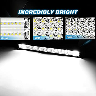 Willpower 22 inch 324W Triple Row Flood Spot Combo Beam Led Bar Driving Boat Off Road Lights for Jeep SUV Truck ATVs (22 inch): Automotive