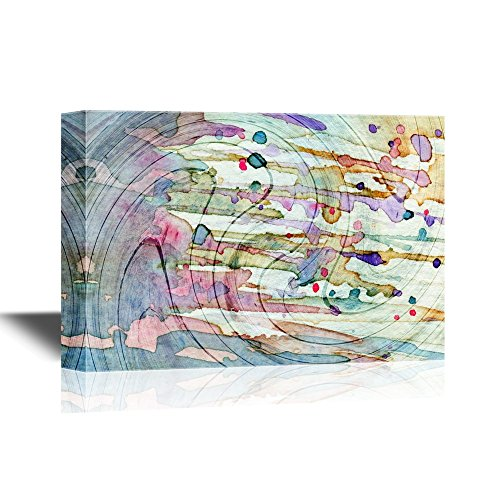 Watercolor Style Abstract Color Composition
