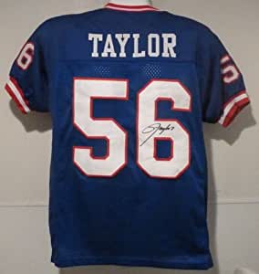 Lawrence Taylor Signed New York Giants Blue Size XL Jersey