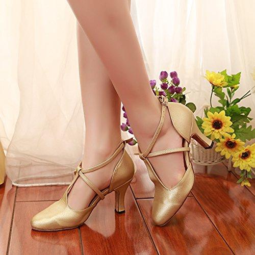 Danse Minitoo Latin De Mariage Salsa Marie T Pompes Uk Or strap 2 Femmes Chaussures Ballroom xI00TXw