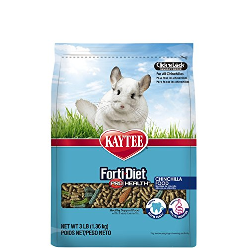 Kaytee Forti Diet Pro Health Small Animal Food for Chinchillas, 3-Pound (Food Chinchilla Kaytee)