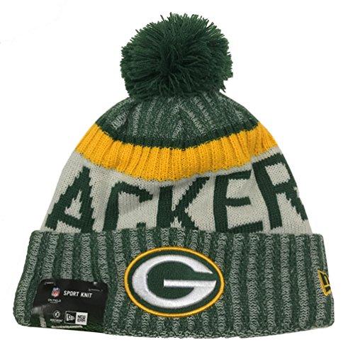 New Era Green Bay Packers 2017 On-Field Sport Knit Beanie Hat/Cap