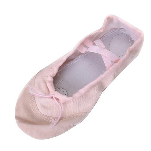 Chicas Zapatos de Ballet Lienzo Zapatos de Baile EU 24 - 30 - Rosa: Amazon.es: Zapatos y complementos