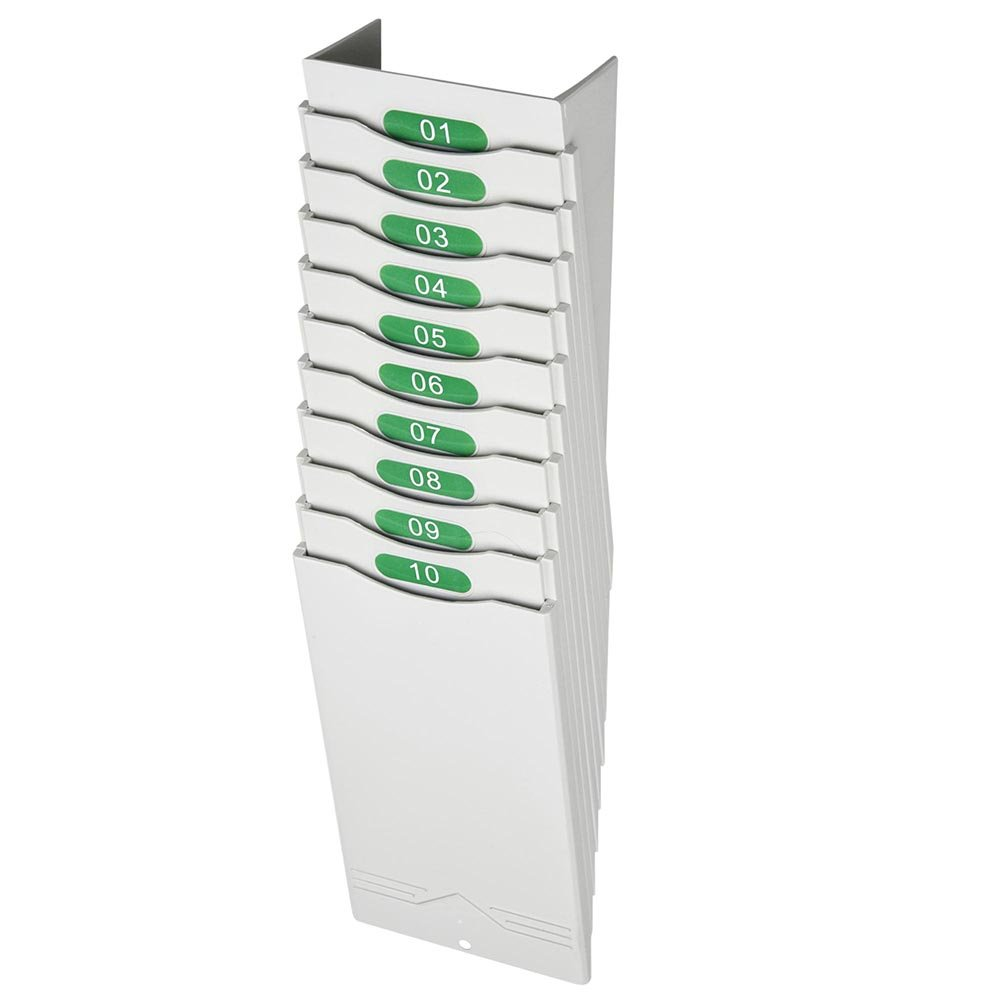 Yescom 10 Pockets Retractable Time Cards Rack Wall Mount Holder for Attendance Recorder Punch Clock Office