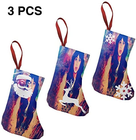 クリスマスの日の靴下 (ソックス3個)クリスマスデコレーションソックス 俳優 Foxes クリスマス、ハロウィン 家庭用、ショッピングモール用、お祝いの雰囲気を加える 人気を高める、販売、プロモーション、年次式
