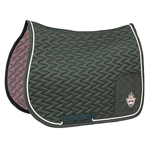 Equine Couture Wellington All Purpose Saddle Pad| Horse Riding Equestrian Saddle Pad | Size- Standard | Color- Hunter