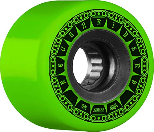 Bones Rough Riders Tank 56mm 80A - Green (Best Skateboard Wheels For Rough Roads)