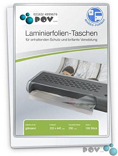 POV® Laminierfolien A3 (320 x 445 mm), 2 x 250 mic, glänzend, für Fahrplanhalterung Mabeg, Verpackungseinheit  100 Stück B00SH8VR8Q | Sofortige Lieferung