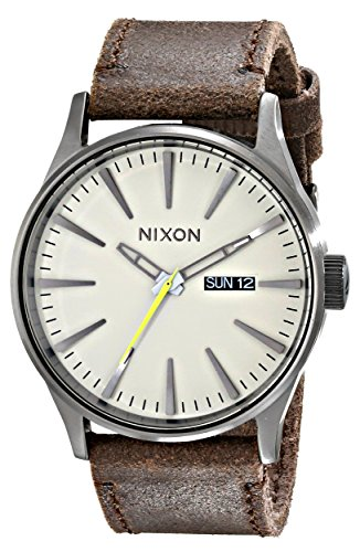 Nixon Men's A1051388 Sentry Leather Watch