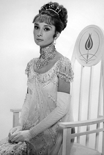 Audrey Hepburn in My Fair Lady elegant portrait in chair 24x36 Poster