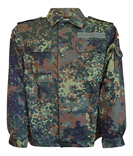 German Army Flecktarn Camouflage Field Shirt, (German Camouflage)