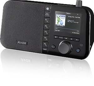 """Avox INDIO Color - Radio por Internet con mando a distancia (pantalla de 8,9 cm/3,5"""", 12 W, WLAN, entrada auxiliar, USB), color negro [Importado de Alemania]"""