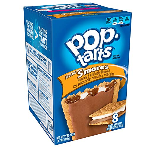 (Pop-Tarts Breakfast Toaster Pastries, Frosted S'mores Flavored, Bulk Size, 96 Count (Pack of 12, 14.7 oz Boxes))