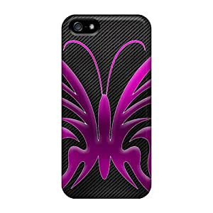 Sanp On Case Cover Protector For Iphone 5/5s (purple Butterfly)