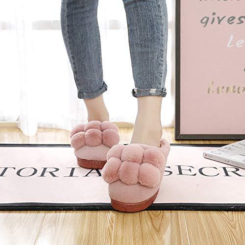 Épais Ménage Nsbm Chaussons Coton Chaussure Chaud Pantoufles Intérieur Femelle Confiné Chaussures Pink hiver Nouveau Fond Automne Balle rUwvqU5xY