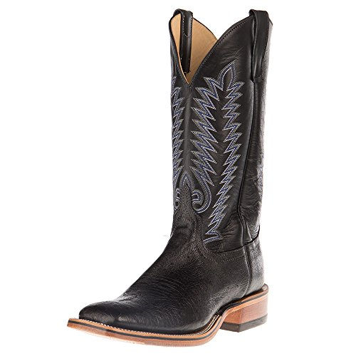 - Anderson Bean Mens Ride Ready Smooth Ostrich Cowboy Boots 11 D Black