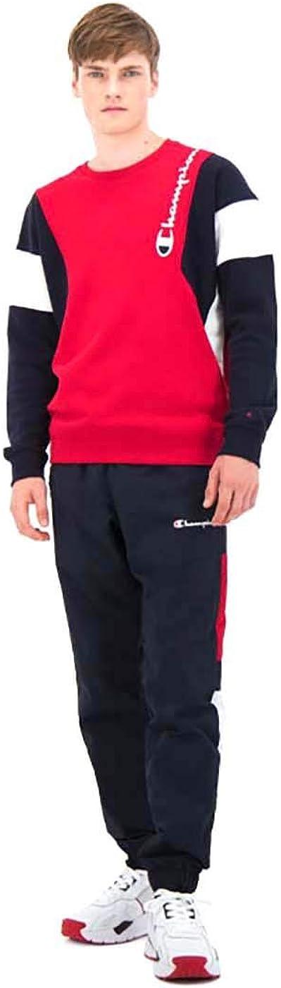 Champion Herren Seitliches Logo-Sweatshirt, Blau Rosso
