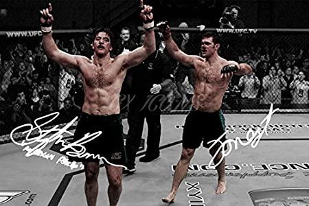 12 X 8 INCHES A4 FORREST GRIFFIN AND STEPHAN BONNAR X2 SIGNED PHOTO PRINT SUPERB QUALITY
