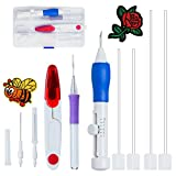 Magic Embroidery Pen, Punch Embroidery Needles Stitching Punch Pen Set Craft Tool for Embroidery Threaders DIY Sewing By Carly Shop