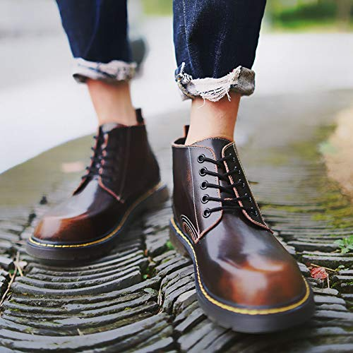 Shukun Herren Stiefel Martin Stiefel Herren Niedrig-Cut Retro Tooling Stiefel, hohe Stiefel, Wilde High-Top-Schuhe, Winter