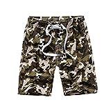 Kute 'n' Koo Big Boy's Swim Shorts, Quick Dry Camo Swim Trunks Boys Bathing Suits (8, Green)