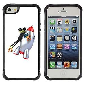 "Pulsar iFace Series Tpu silicona Carcasa Funda Case para Apple iPhone SE / iPhone 5 / iPhone 5S , Rana Historieta Espacio"""
