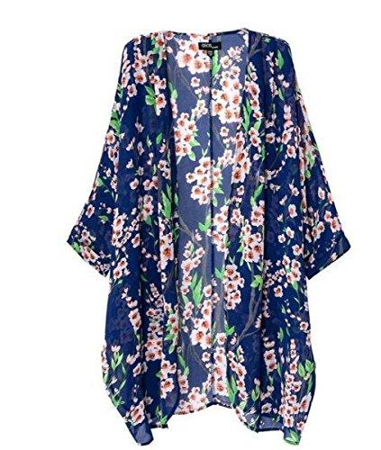 Akery Womens Floral Chiffon Cardigan product image