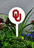 Authentic Street Signs Spring STEEL Garden Stakes (Oklahoma Sooners-White)