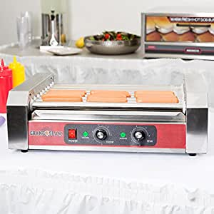 Slam HDRG24 Hot Dog Roller Grill - 9 Rollers, 24 Hot Dog Capacity (110V) by TableTop king