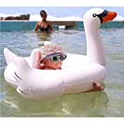 Uclever Premium White Swan Baby Float Swimming Ring Inflatable Seat Boat Pool Toys