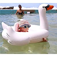 Uclever Premium White Swan Baby Float Swimming Ring Inflatable Seat Boat Pool...
