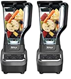 Ninja Professional 72oz Countertop Blender with 1000-Watt Base and Total Crushing Technology for Smoothies, Ice and Frozen Fruit (BL610), Black (Twо Расk)