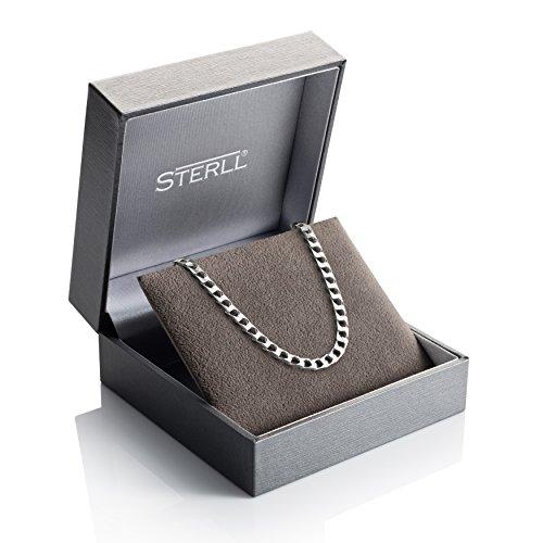 STERLL Chaîne pour hommes, en argent, avec une boite à bijou, idéale comme cadeau pour homme
