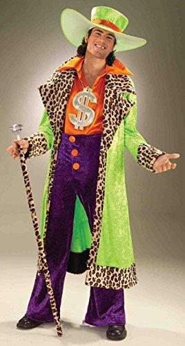 Forum Novelties Men's Big Daddy Pimp Costume, Multicolor, Standard -