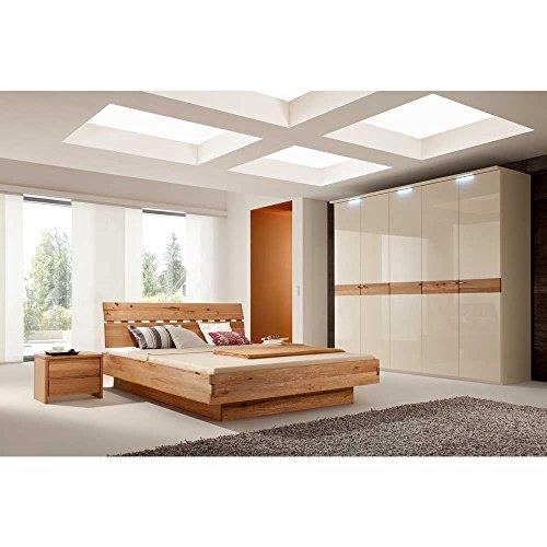 Schlafzimmermbel-Set-aus-Wildeiche-Creme-Hochglanz-4-teilig-Pharao24