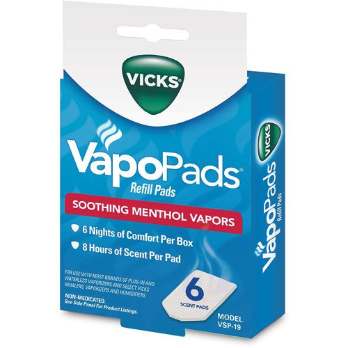 Home Vicks Vapo Pack, Waterless Vaporizer, Plug-In, soothing comfort, White