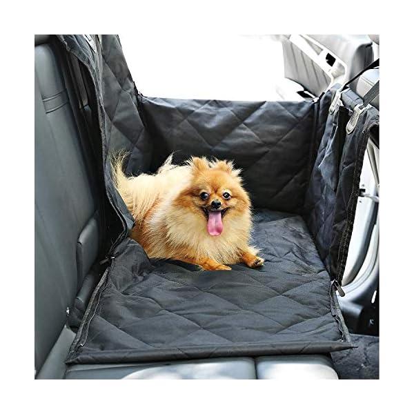 51cXXonE18L Looxmeer Hunde Autositz für Kleine Mittlere Hunde, Hundesitz Auto Autositzbezug mit Sicherheitsgurt und Verstärkter…