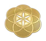 Astrogems Seed of Life 18K Gold Plated 4' Healing Grid