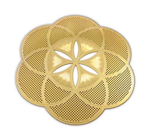 Love Hearts Seed of Life Gold Plated 4' Grid