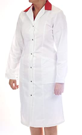 Alexandra Workwear - Women's -Lab Coat-WorkWear-Press Stud-White ...