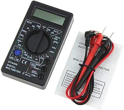 Dt 830b Mini Pocket Digital Multimeter 1999 Zählt Ac Dc Volt Ampere Ohm Diode Hfe Tester Amperemeter Voltmeter Ohmmeter Schwarz Baumarkt