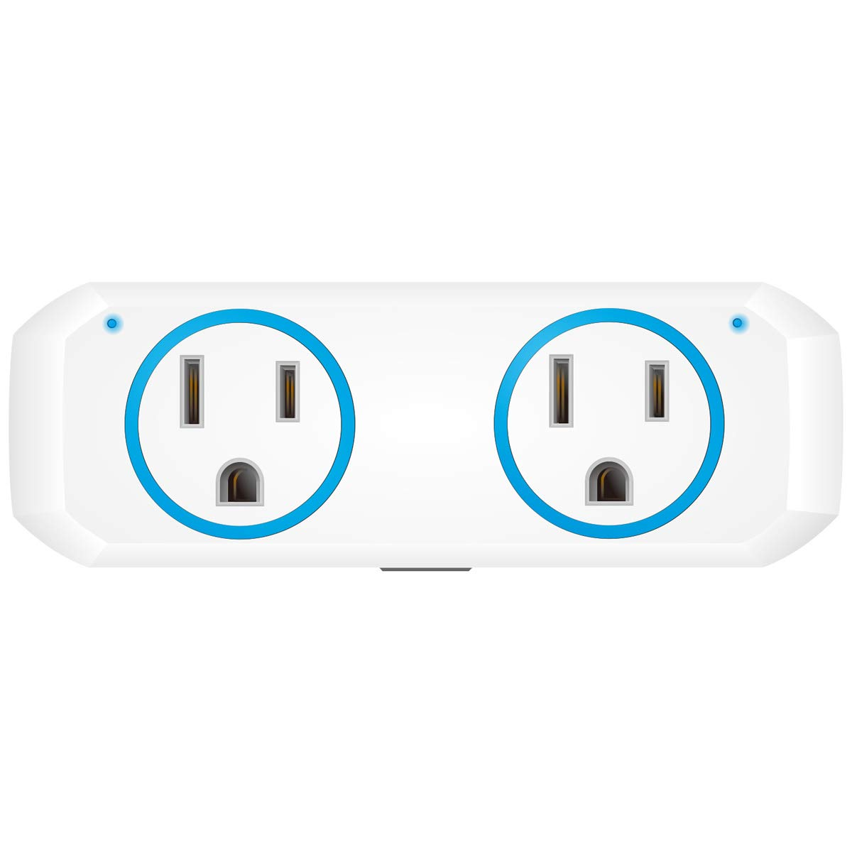 Oukitel Smart Wi-Fi Plug, Alexa Echo Plug,2 in 1 Smart Plug Mini Outlet With Timer Wi-Fi Smart Socket Switch Voice and App Controlled,Compatible with Alexa Echo,Google Home and IFTTT (1 Pack, Blue)
