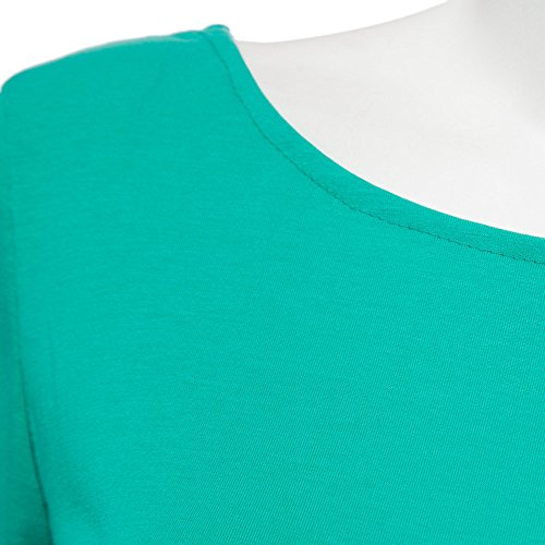 Tops Slim pissure Nu Fashion Haut Shirts Femme Manches Longues Dos Blouses Chemisiers Col Vert Monika t Dentelle Rond E6wZXq