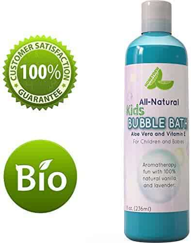 Bubble Bath for Kids & Sensitive Skin Types – Lavender Vanilla Aromatherapy - Baby Bubble Bath for Children – 8 Oz & USA Made