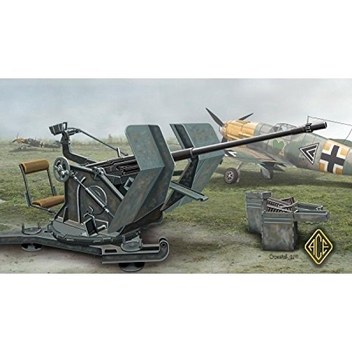WW II GERMAN FLAK 30 ANTI AIRCRAFT GUN KI 2CM FLAK 30 1/48 ACE 48102 (Gun Models Air Anti)