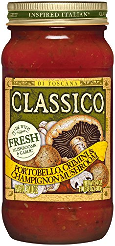 (Classico Portobello Crimini & Champignon Mushroom Tomato Pasta Sauce (24 oz Jars, Pack of 12))